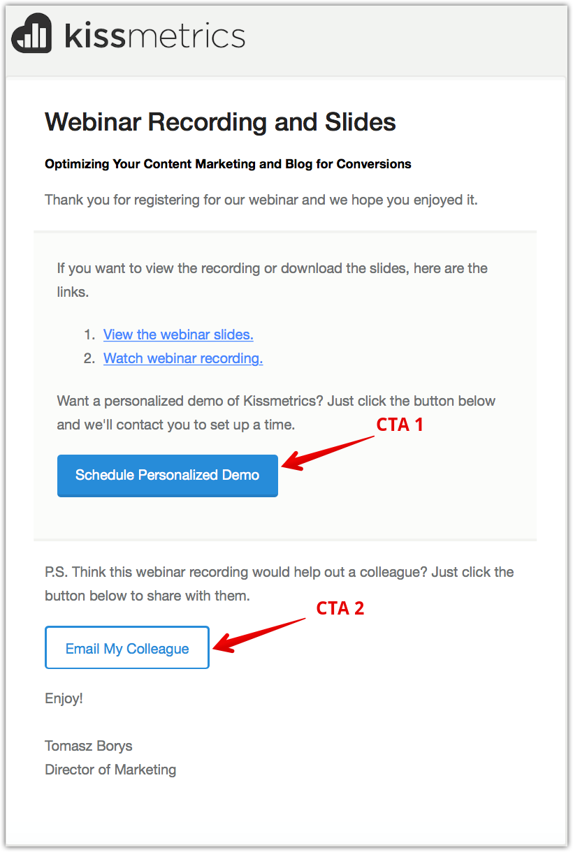 CTA in Email